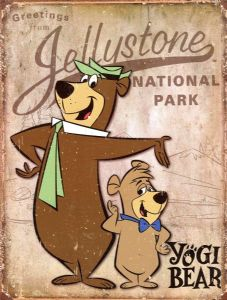 Yogi Bear Greetings From Jellystone National Park metal sign  410mm x 320mm   (sf)